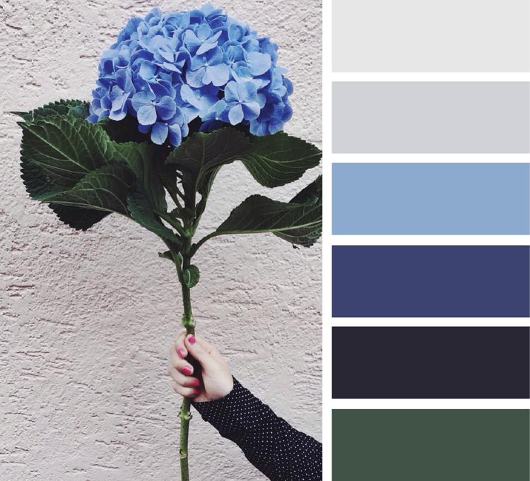 Khaki Farbe kombinieren mit Blautönen
