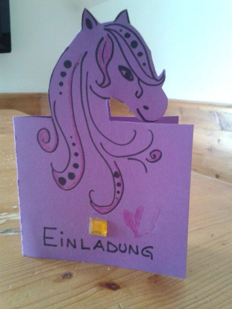 Einladung Kindergeburtstag Papier Einhorn