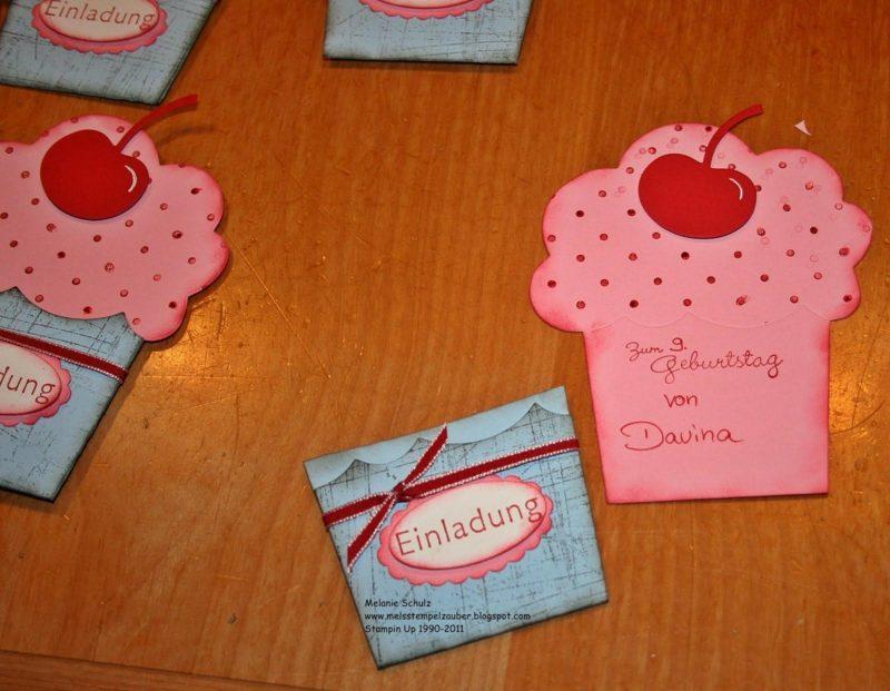 Einladung Kindergeburtstag Muffinform
