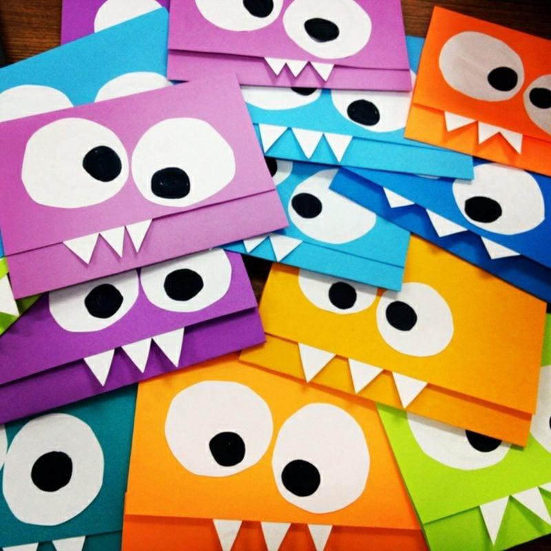 Einladung Kindergeburtstag Briefumschlag Design Monster