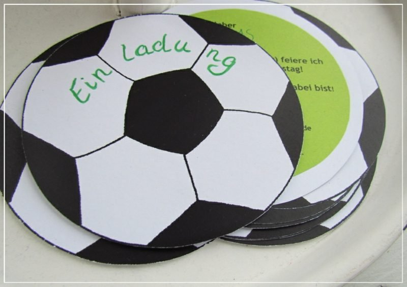 Einladung Kindergeburtstag Mottoparty Fussball