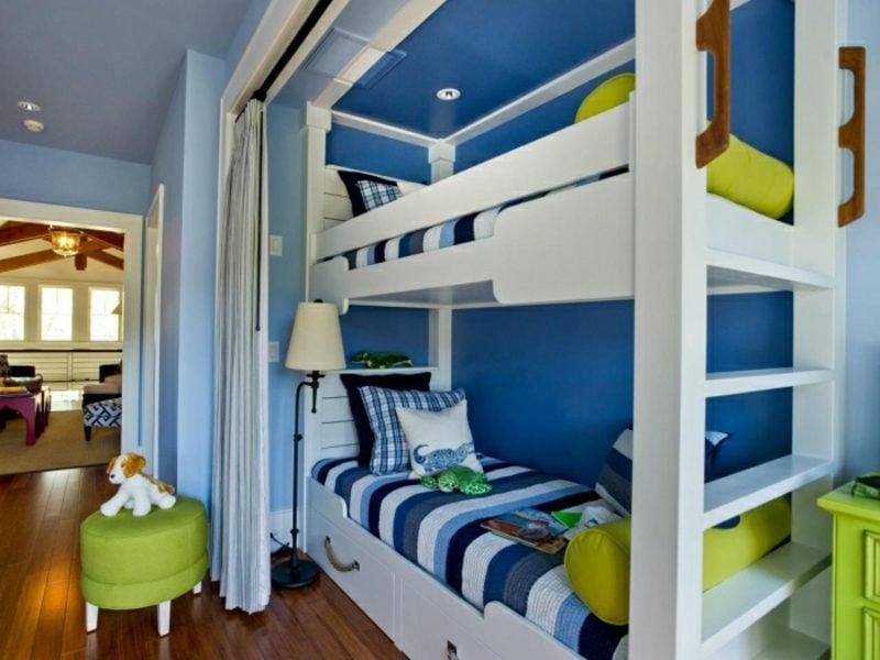 Kinderzimmer streichen Tiefblau