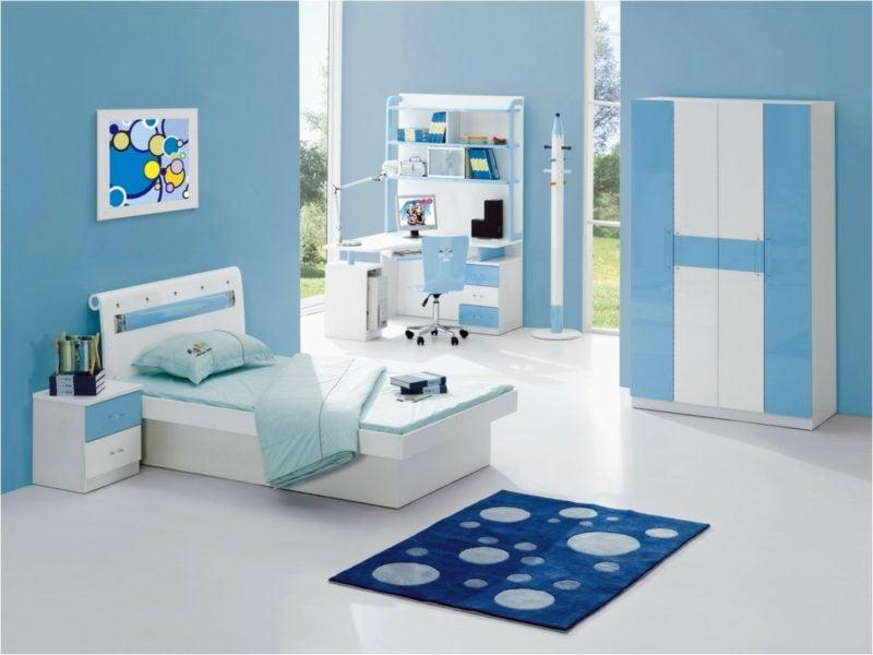 Kinderzimmer streichen blaues Interieur