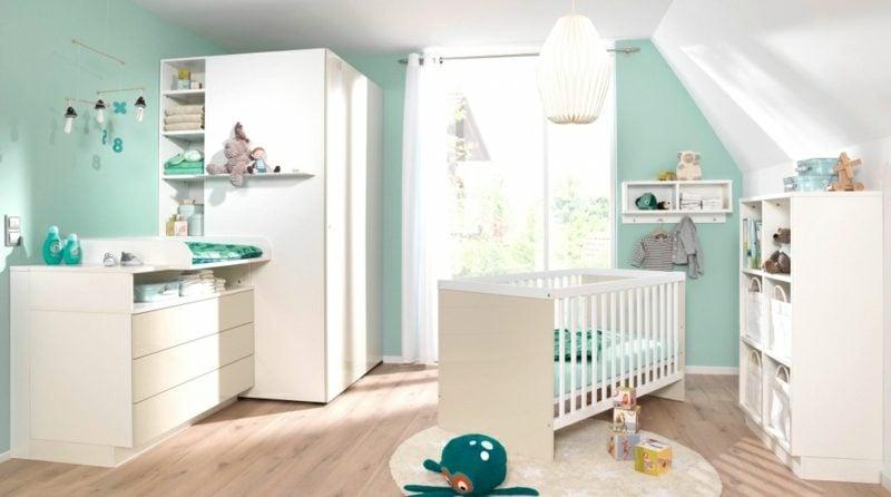 Kinderzimmer streichen Pastellblau Weiss