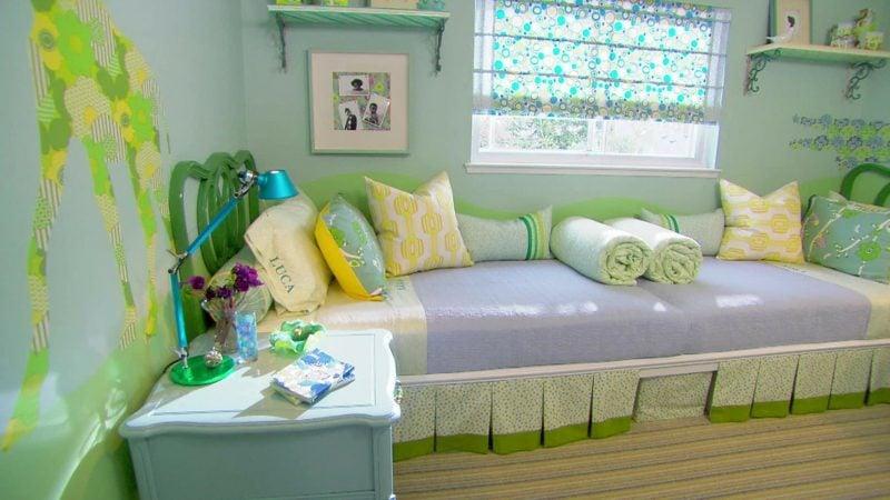 Kinderzimmer streichen Minzgrün