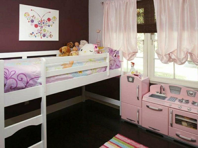 Kinderzimmer streichen Weiss Schokobraun