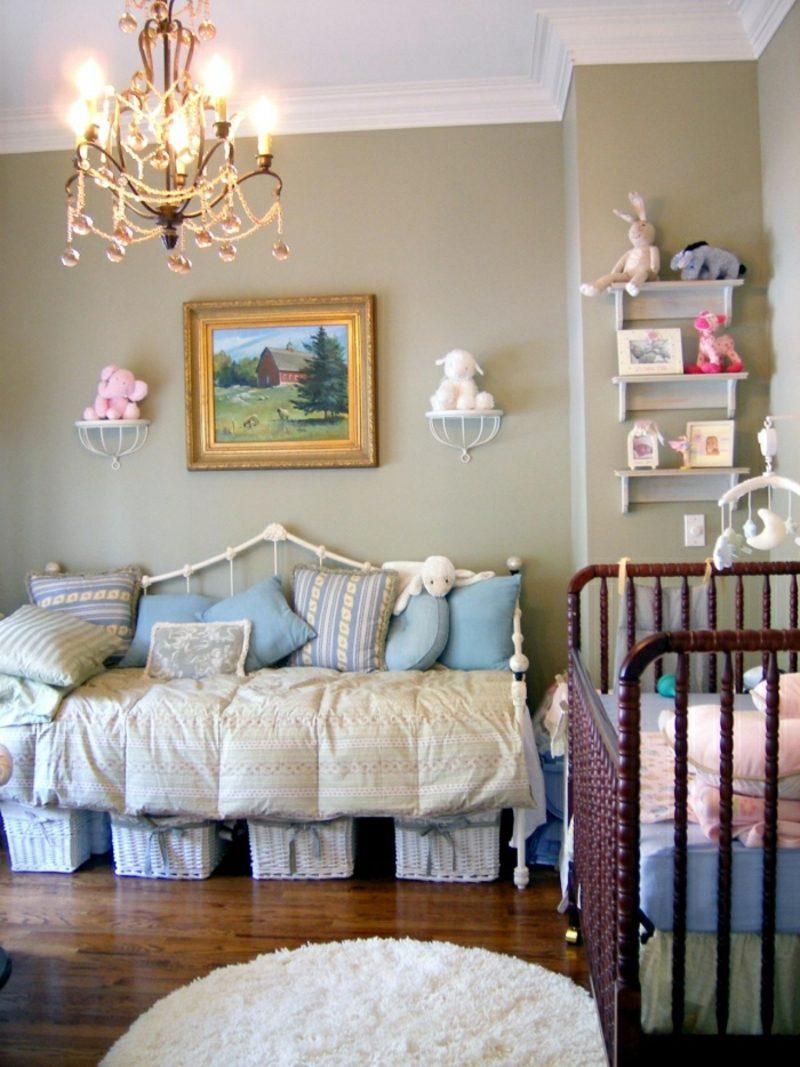 Kinderzimmer streichen Neutralfarben Vintage Look