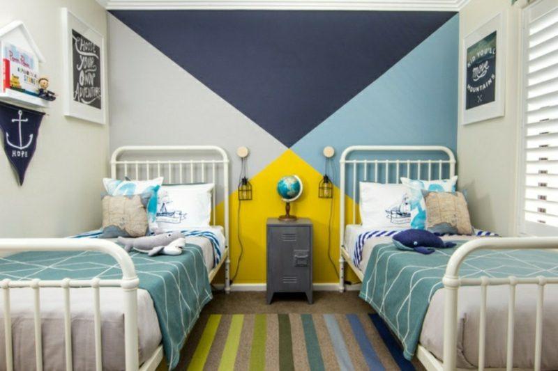 Kinderzimmer streichen originelle geometrische Muster