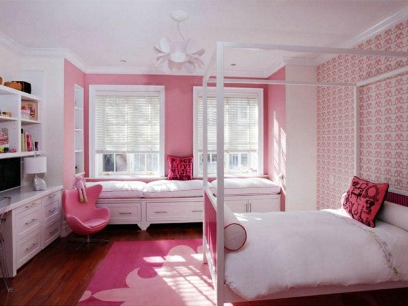 Kinderzimmer Streichen Sanftes Rosa Mädchen