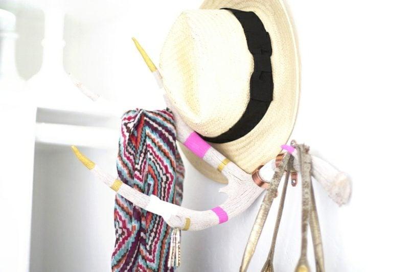 Kleiderhaken selber machen Hirschgeweih