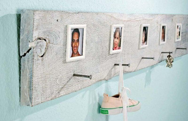 Kleiderhaken selber machen personalisiert mit Fotos