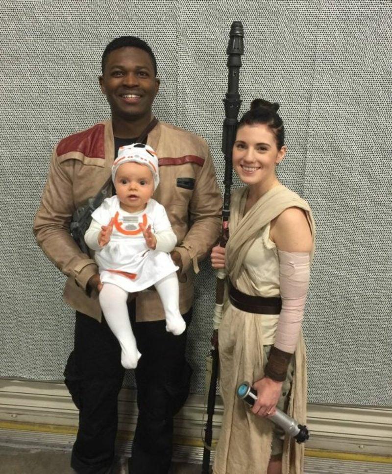 Star Wars Kostüm Familie Finn Rey Baby