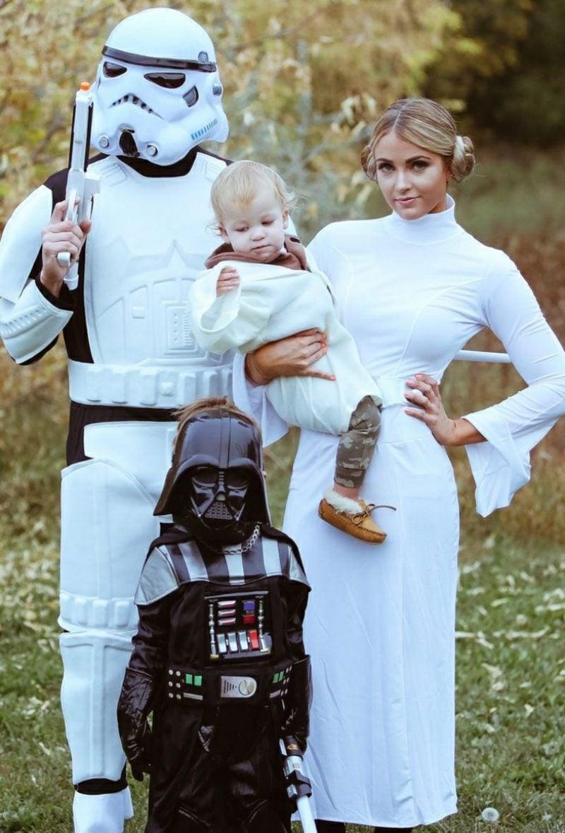 Star Wars Kostüm Familie Darth Vader Prinzessin Leia