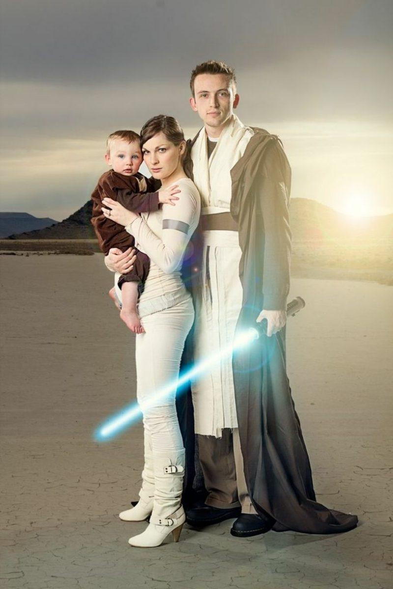 Star Wars Kostüm Familie originelle Ideen