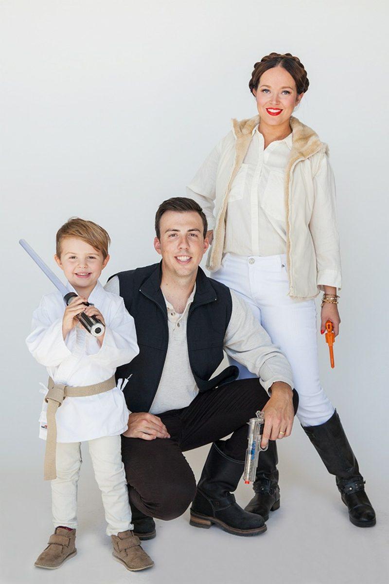 Star Wars Kostüm Familie Leia Han Solo Luke Skywalker