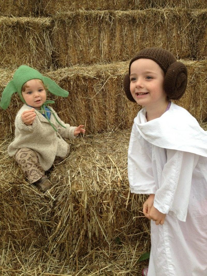 Star Wars Kostüm Leia und Yoda