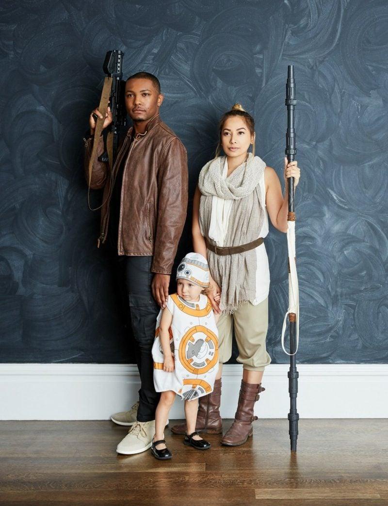 Star Wars Kostüm familie Finn und Rey