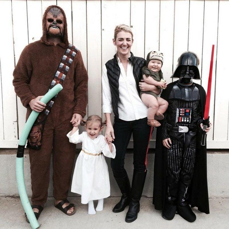 Star Wars Kostüm Famile Darth Vader Chewbacca