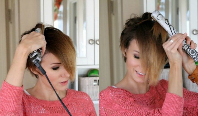 Kurze Haare locken DIY Glätteisen