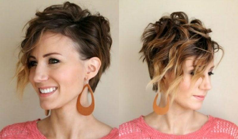 Kurze Haare locken moderne messy Frisur