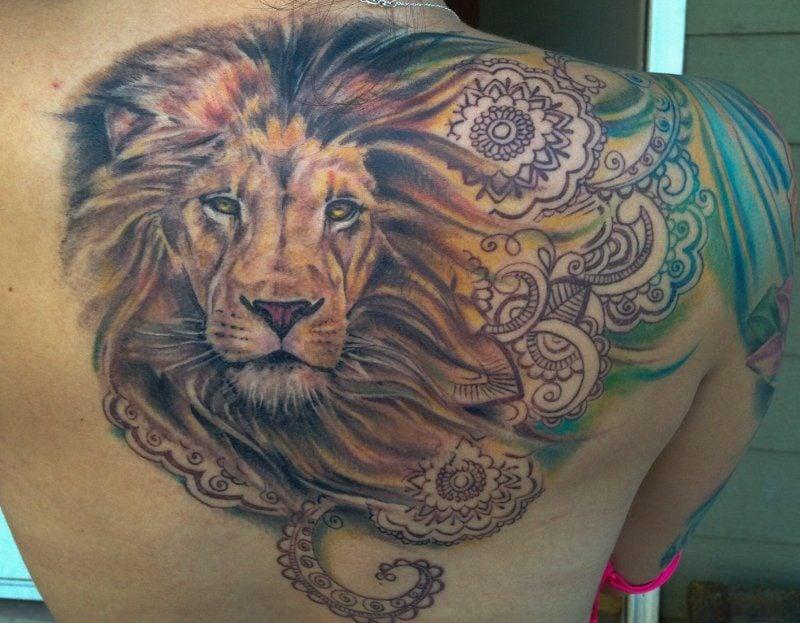 Tattoo Löwe Aquarell herrlicher Look