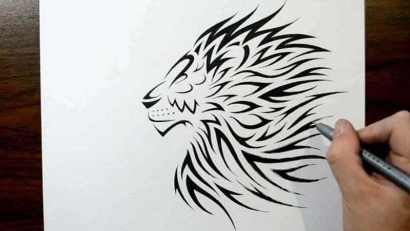 Tattoo Löwe Vorlage stilisiert