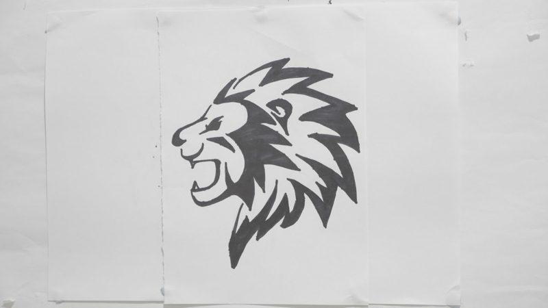 Tattoo Löwe Vorlage klein abstrakt