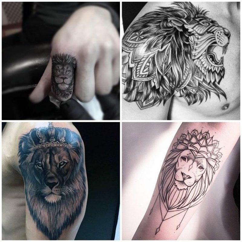Tattoo Löwe vier Designs