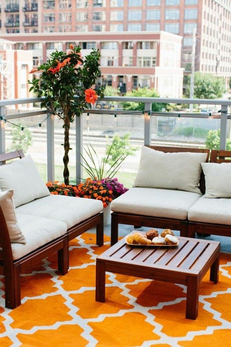 platzsparende Möbel Balkon modern