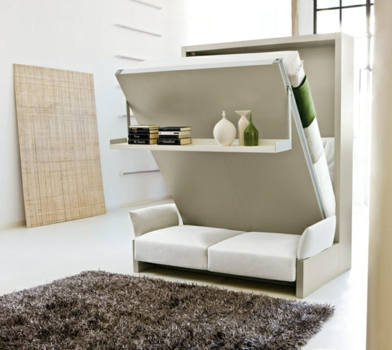 platzsparende Möbel praktisches Bett klappbar