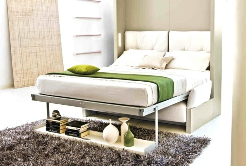 platzsparende Möbel Bett klappbar kompakt