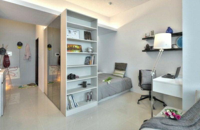 platzsparende Möbel Einzimmerwohnung einrichten