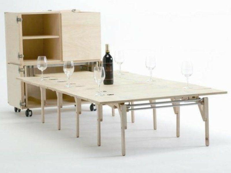 platzsparende Möbel Schrank Esstisch klappbar