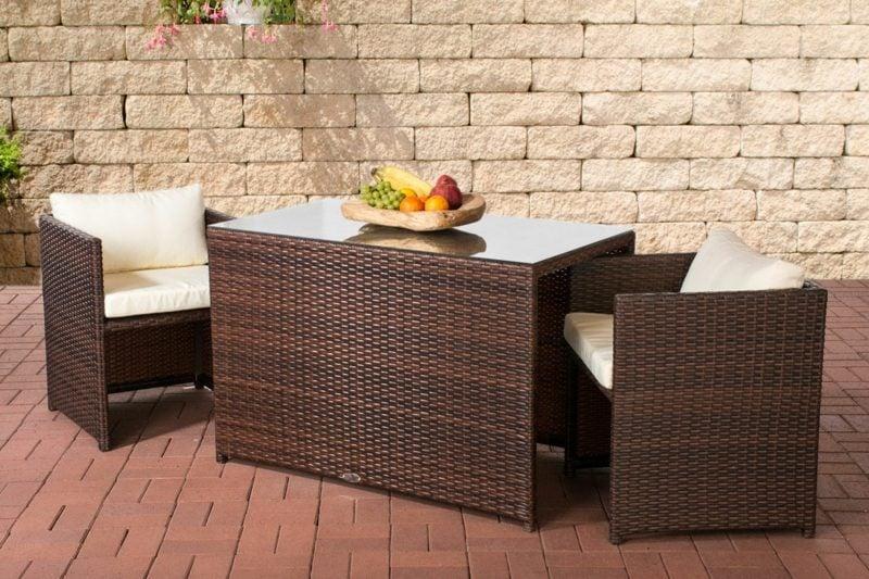 platzsparende Möbel Designer Garten Rattan