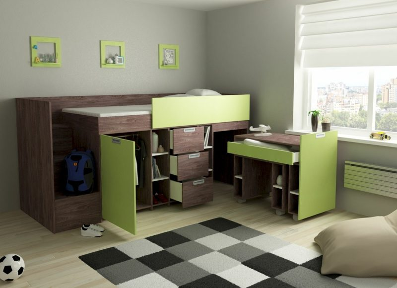 platzsparende Möbel Kinderzimmer Junge
