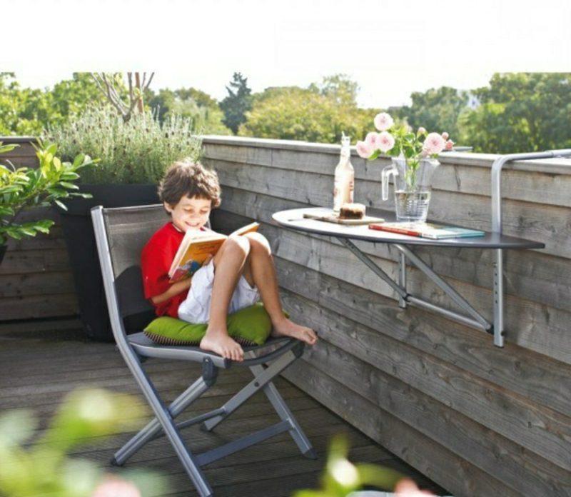 platzsparende Möbel klappbarer Tisch Balkon