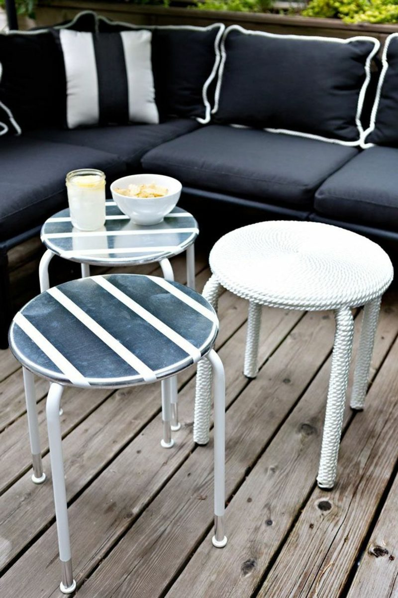 platzsparende Möbel kleine Beistelltische