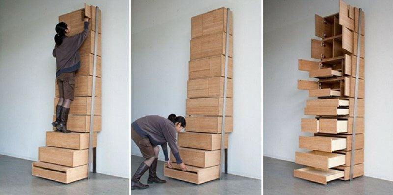 platzsparende Möbel Schranksystem modern