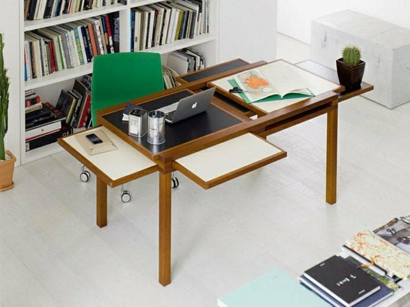 platzsparende Möbel Schreibtisch funktional