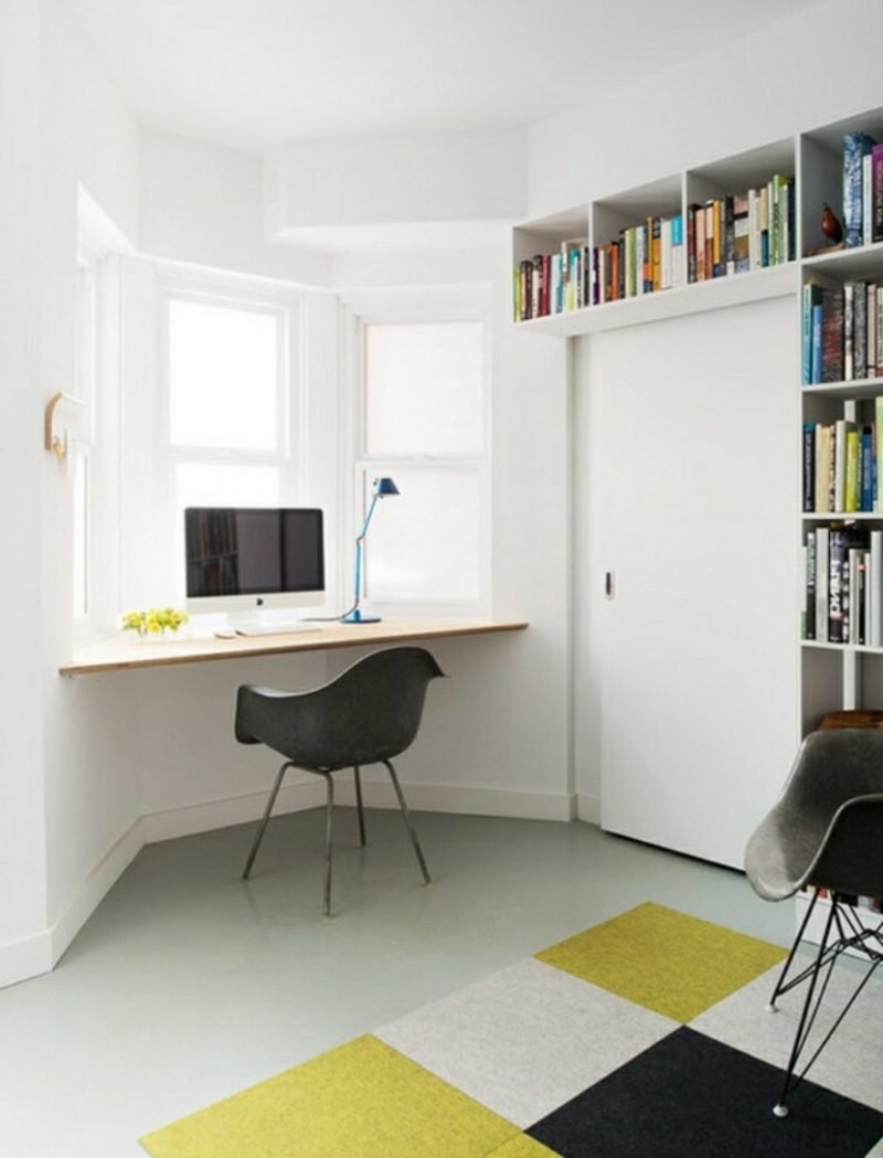 platzsparende Möbel Fensterbank Schreibtisch kompakt
