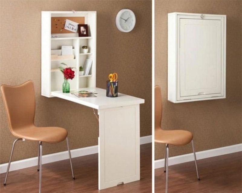 platzsparende Möbel Schreibtisch klappbar