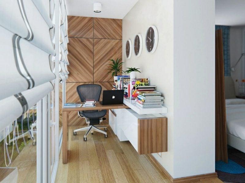 platzsparende Möbel verschiebbarer Schreibtisch