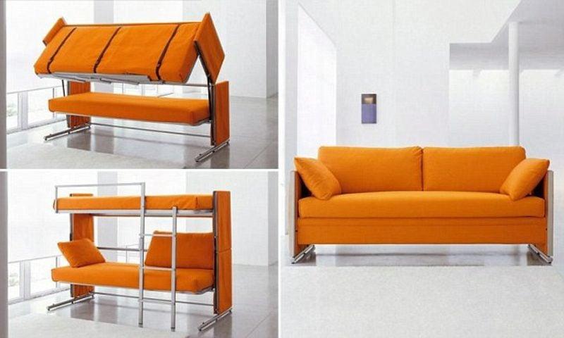 platzsparende Möbel Etagenbett Sofa
