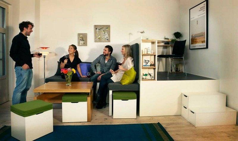 platzsparende Möbel minimalistisch Designer