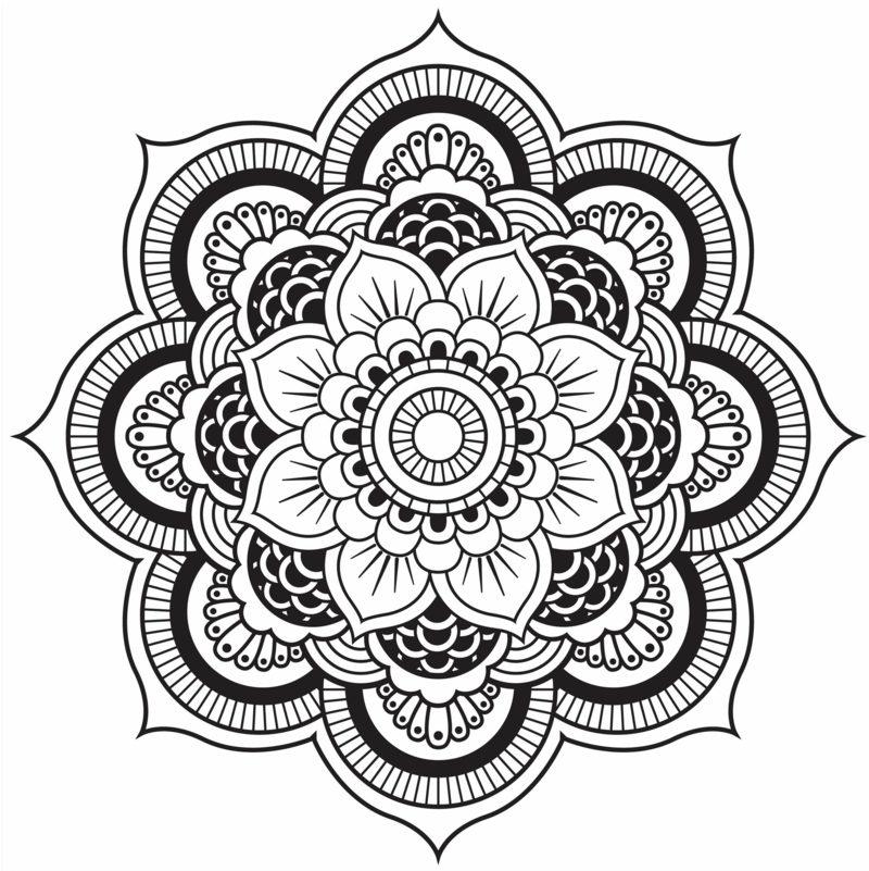 Mandalas zum Ausdrucken Blume