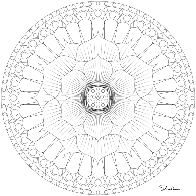 Mandalas zum Ausdrucken Blumenmotiv