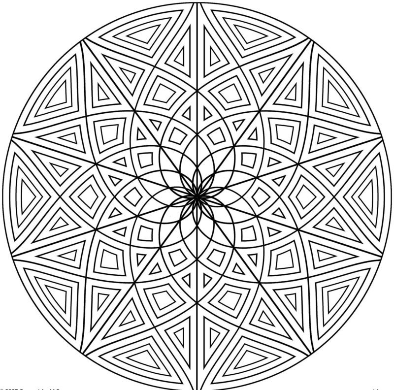 Mandalas zum Ausdrucken Stern Dreiecke