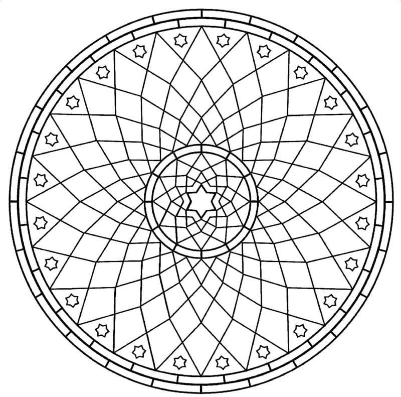 Mandalas zum Ausdrucken Gitter Stern