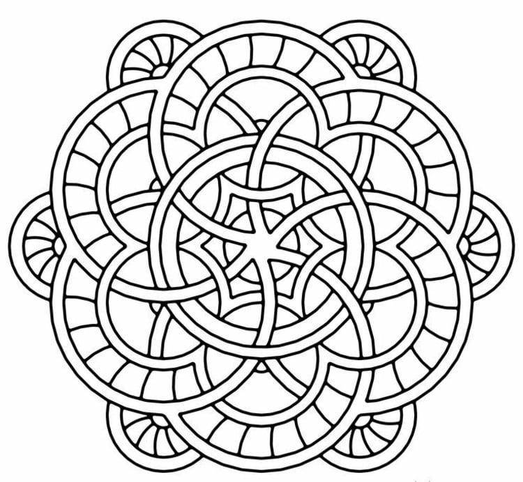 Mandalas zum Ausdrucken Kreise abstrakt