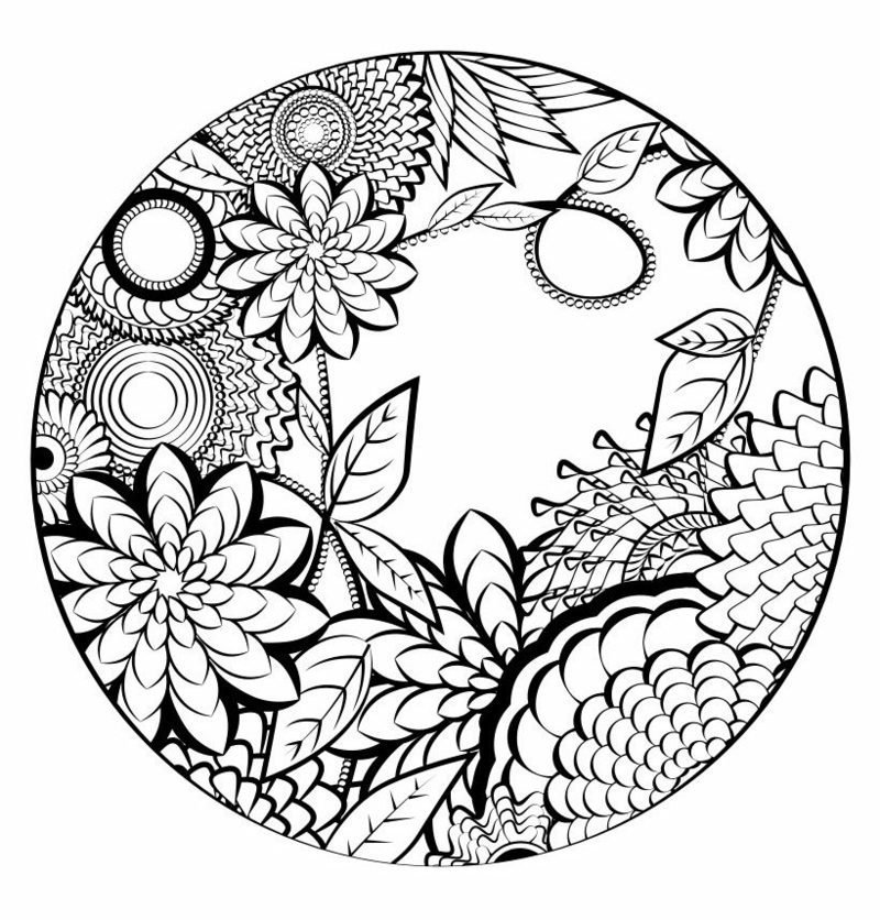Mandalas zum Ausdrucken Pflanzenmuster
